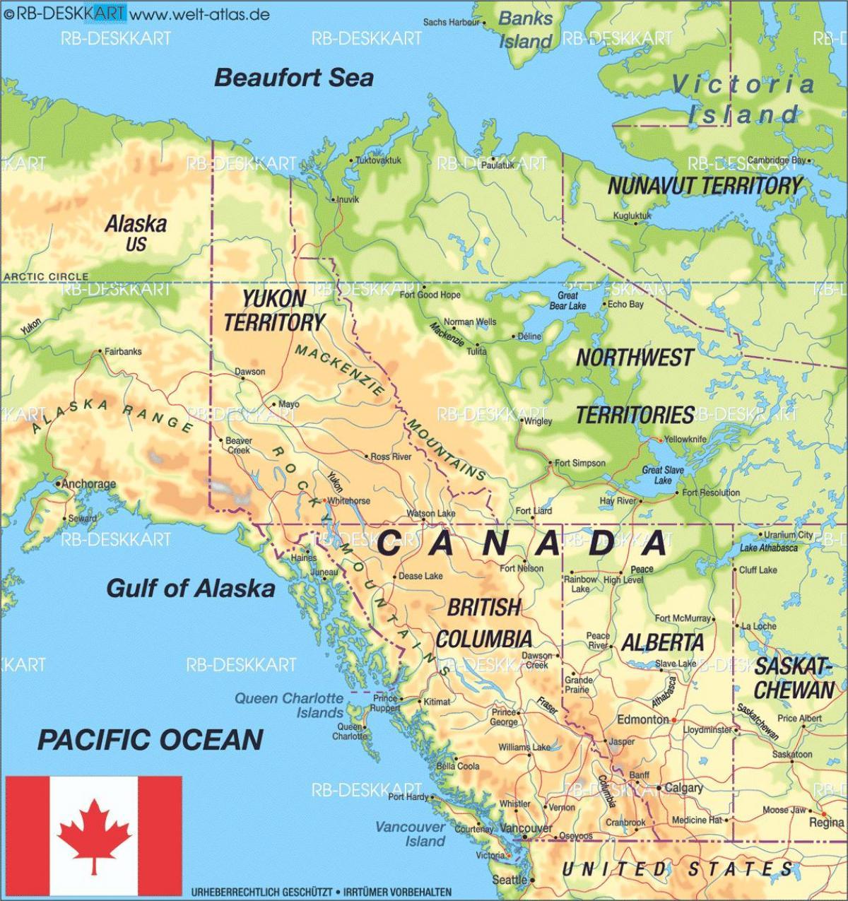 Kết quả hình ảnh cho bản đồ tây canada